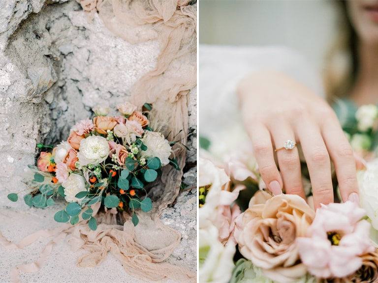 amalfi coast elopement bouquet