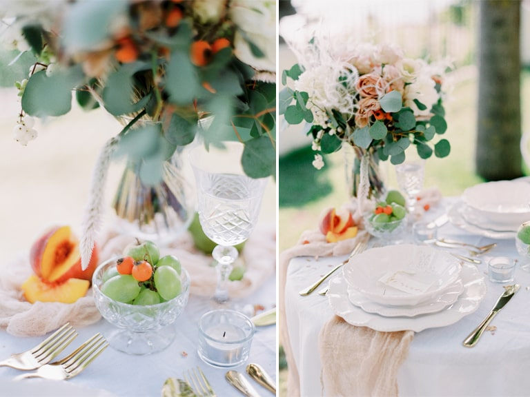 wedding details table elopement