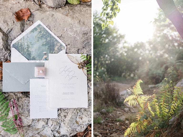 amalfi coast wedding stationery
