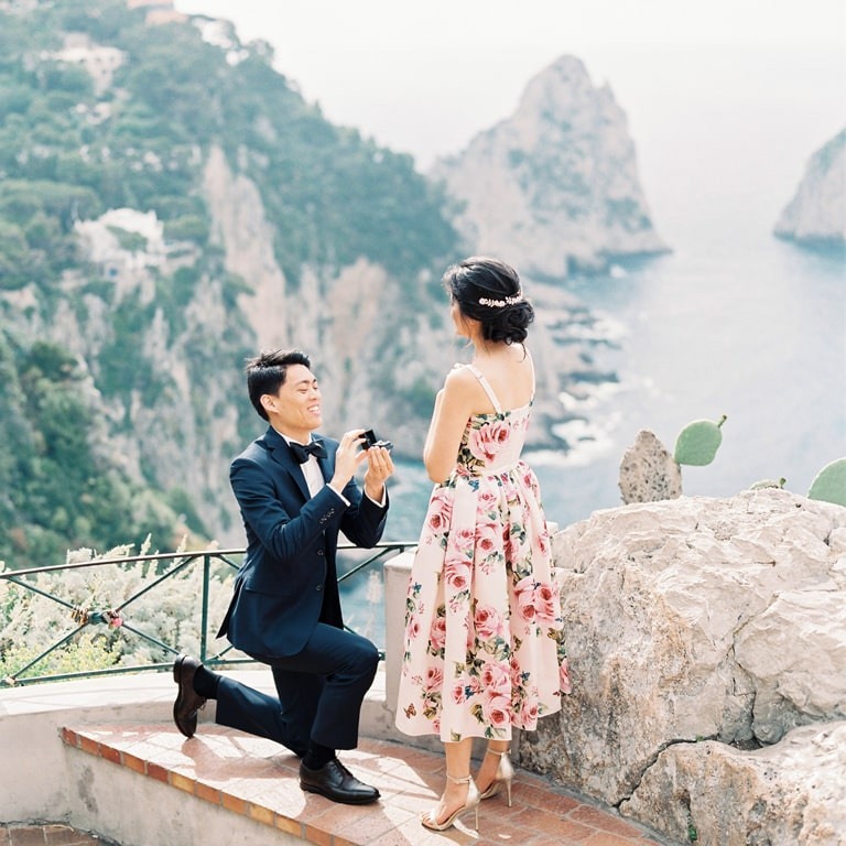 capri surprise marriage proposal